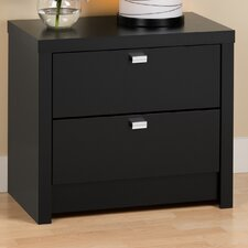 <strong>Prepac</strong> Designer Series 9 2 Drawer Nightstand