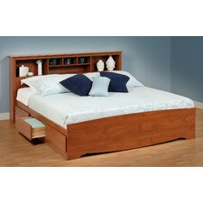 Cherry Monterey King Storage Platform Bed