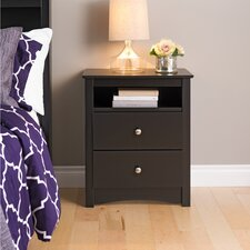 <strong>Prepac</strong> Sonoma 2 Drawer Nightstand