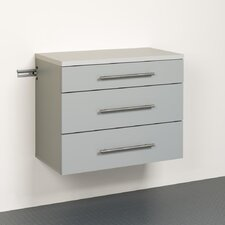 "HangUps 24"" H x 30"" W x 16"" D 3-Drawer Base Storage Cabinet"