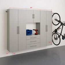 HangUps 6' H x 7.5' W x 1.33' D 4 Piece Storage Cabinet G Set