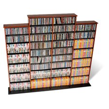 Quad Wall Mouted Multimedia Storage Rack