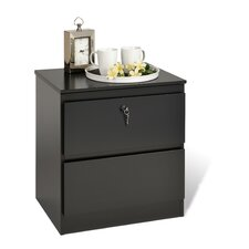 Avanti Lock 2 Drawer Nightstand