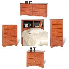 Cherry Monterey Bookcase Headboard Bedroom Collection