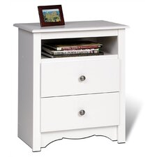 <strong>Prepac</strong> Monterey 2 Drawer Nightstand