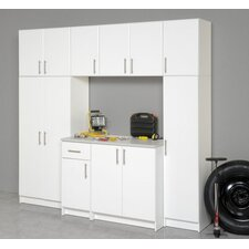 Elite Garage/Laundry Room Wardrobe Cabinet with Top Shelf and Crossbar