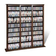 Triple Barrister Multimedia Storage Rack