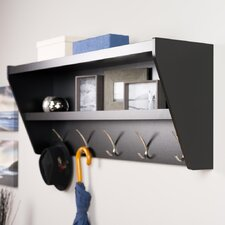 Floating Entryway Shelf & Coat Rack