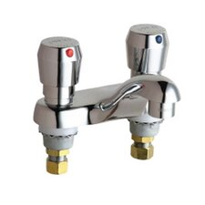 <strong>Chicago Faucets</strong> Metering Bathroom Faucet with Double Metering Handles