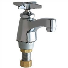 Singgle Hole Cold Water Bathroom Faucet with Single Cross Handle