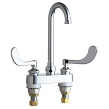 <strong>Chicago Faucets</strong> Centerset Bathroom Faucet with Double Wrist Blade Handles