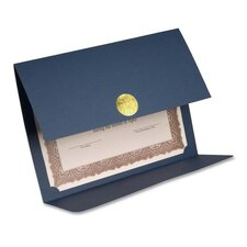 "Certificate Holder,Double-fold,Holds 8-1/2""x11,5/PK,Blue"