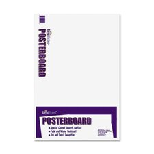 "Royal Brites White Poster Boards, 22""x28"", 100/CT, White"