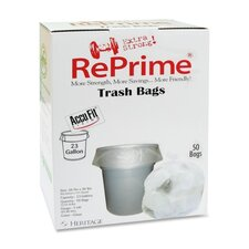 """Reprime Can Liners, 23 Gal, .90 Mil, 28"""" X 45"""", 50/Box"""