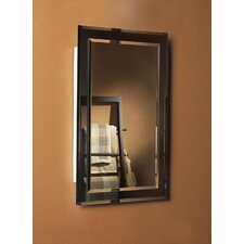 "Mirror on Mirror 16"" x 26"" Recessed Beveled Edge Medicine Cabinet"