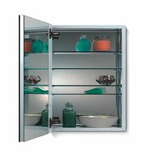 Metro Flat Trim Cabinet with Four Glass Shelves in Rust Resistant