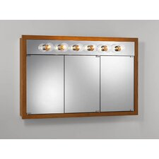 "48"" x 30"" Surface Mount Medicine Cabinet with 6 Bulbs"