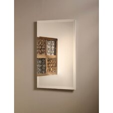 "Perfect Square 16"" x 26"" Recessed Beveled Edge Medicine Cabinet"