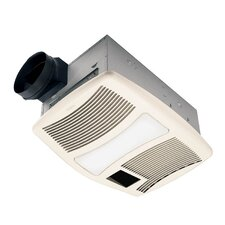 Ultra Silent 110 CFM Exhaust Bathroom Fan with Heater and Light