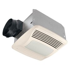 Ultra Silent 110 CFM Energy Star Humidity Sensing Bathroom Fan with Fluorescent Light