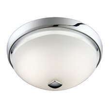 2 Light Decorative Glass Fan/Light Flush Mount