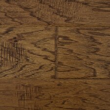"Distressed Handscraped 5"" Engineered Hickory in Buckskin"