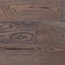 "Stained Semi-Gloss 4-1/4"" Solid Red Oak Flooring in Charcoal Light/Natural"