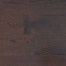 "Stained Semi-Gloss 4-1/4"" Solid Red Oak Flooring in Moka/Folk"