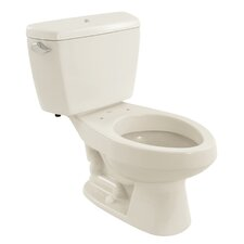 Carusoe 1.6 GPF Elongated 2 Piece Toilet with Bolt Down Lid and Insulated Tank
