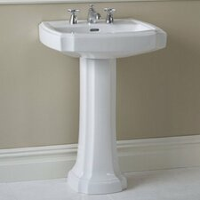 "Guinevere 27.125"" Pedestal Bathroom Sink"