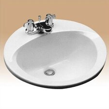 "ADA Compliant 19"" Self Rimming Bathroom Sink"