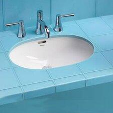 "ADA Compliant 19.63"" Rimless Undermount Bathroom Sink with SanaGloss Glazing"