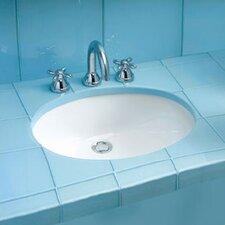 Dantesca ADA Compliant Undermount Bathroom Sink with SanaGloss Glazing