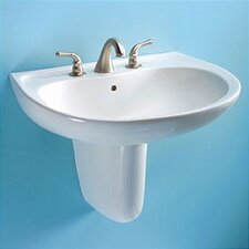 <strong>Toto</strong> Prominence Wall Mount Bathroom Sink Set with SanaGloss Glazing