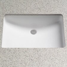 Rimless ADA Compliant Undermount Bathroom Sink with SanaGloss Glazing