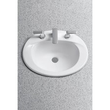 Supreme ADA Compliant Self Rimming Bathroom Sink with SanaGloss Glazing