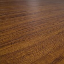 SAMPLE - 7 mm Narrow Board Laminate with Underlayment in Caramelized Teak