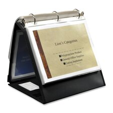 "<strong>Lion Office Products</strong> Ring Binder Easel, 1-1/2"" Cap, Horizontal, 11""x8-1/2"", Black"