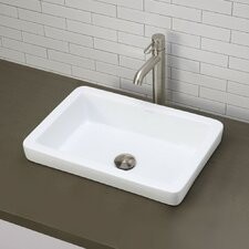 <strong>DecoLav</strong> Classically Redefined Semi-Recessed Bathroom Sink