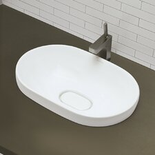 <strong>DecoLav</strong> Classically Redefined Semi Recessed Oval Bathroom Sink