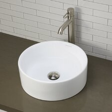 Classically Redefined Round Vessel Bathroom Sink