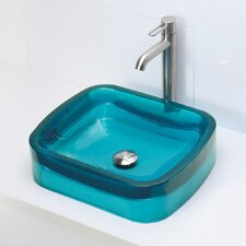 Incandescence Rectangular Vessel Bathroom Sink