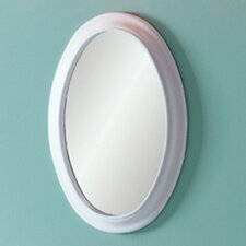Waterfront Oval Mirror in White