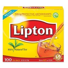 Lipton Tea Bags, Regular, 1.25 oz Packets, 100/BX
