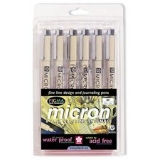 Micron Pigma Assorted Pen (Set of 6)