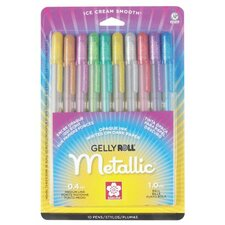 <strong>Sakura of America</strong> Gelly Roll Metallic Gel Pen (Set of 10)