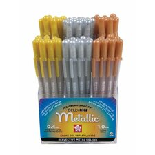 Gelly Roll Metallic Pen Display (Set of 72)