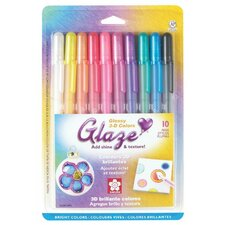 3D Glossy Pen (Set of 10)