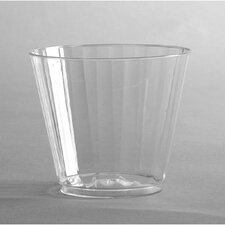 Classic 9 oz Crystal Plastic Tumbler in Clear