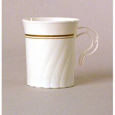 Masterpiece Plastic Mug in Ivory with Gold Print
